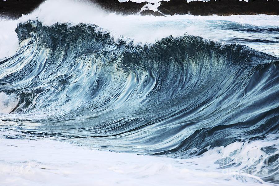 Beautiful Photograph - Sunlit Wave by Vince Cavataio