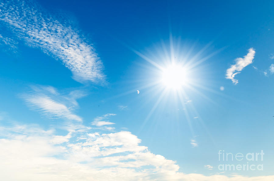 Sunny Blue Sky Photograph By Michal Bednarek