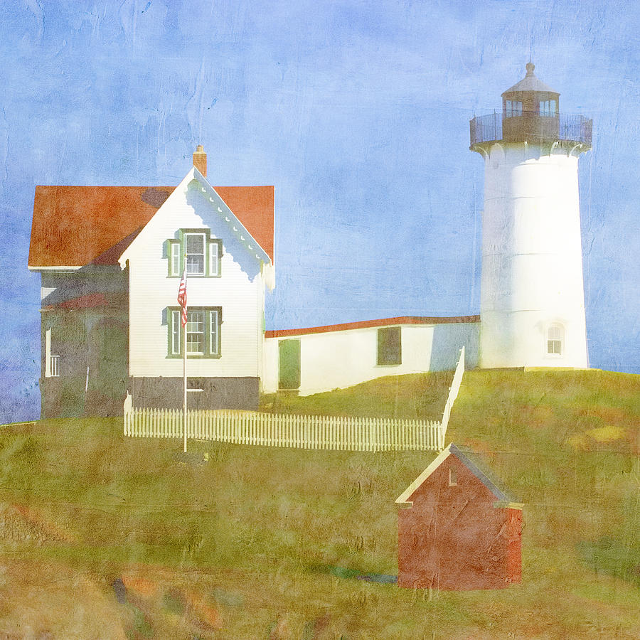 Light Photograph - Sunny Day At Nubble Lighthouse by Carol Leigh
