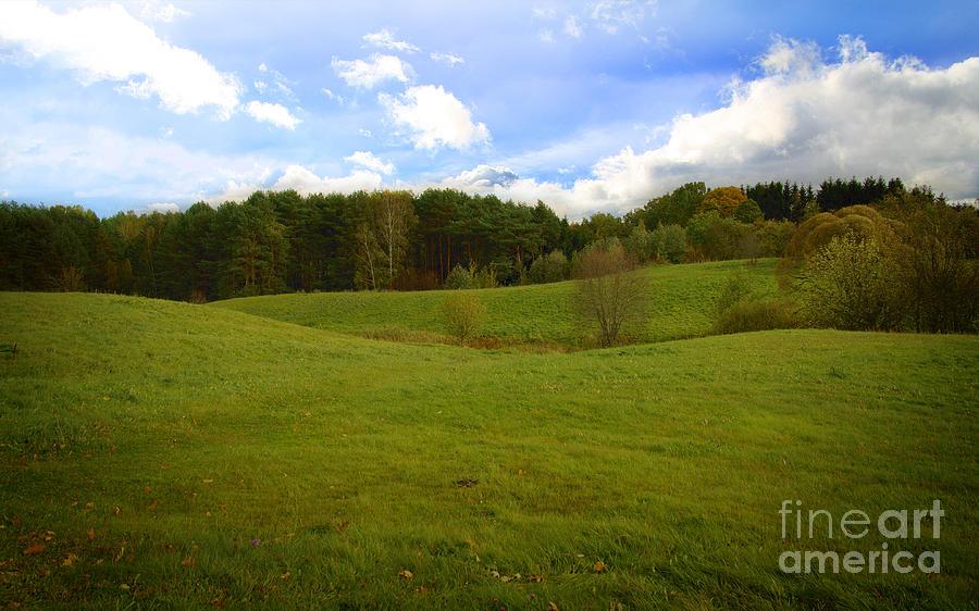 Sunny Hill Photograph - Sunny Hill by Jolanta Meskauskiene
