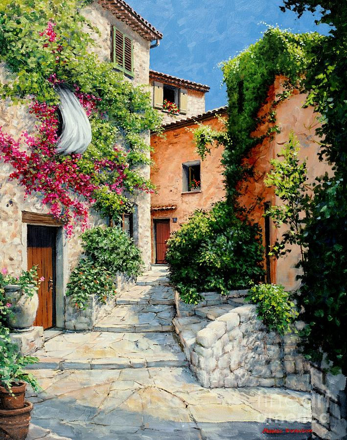 Stone Painting - Sunny Walkway by Michael Swanson