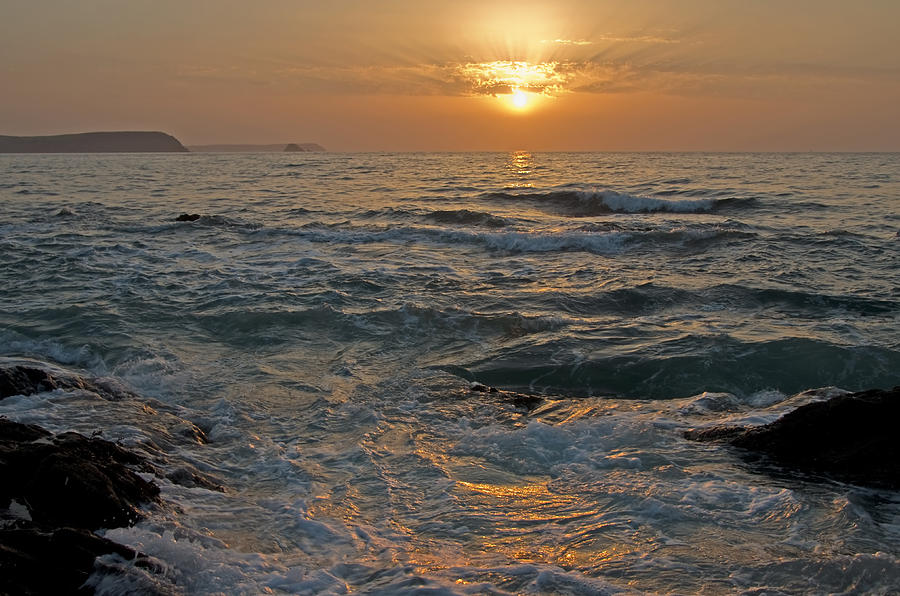 Cornwall Photograph - Sunrise At Portscatho by Pete Hemington