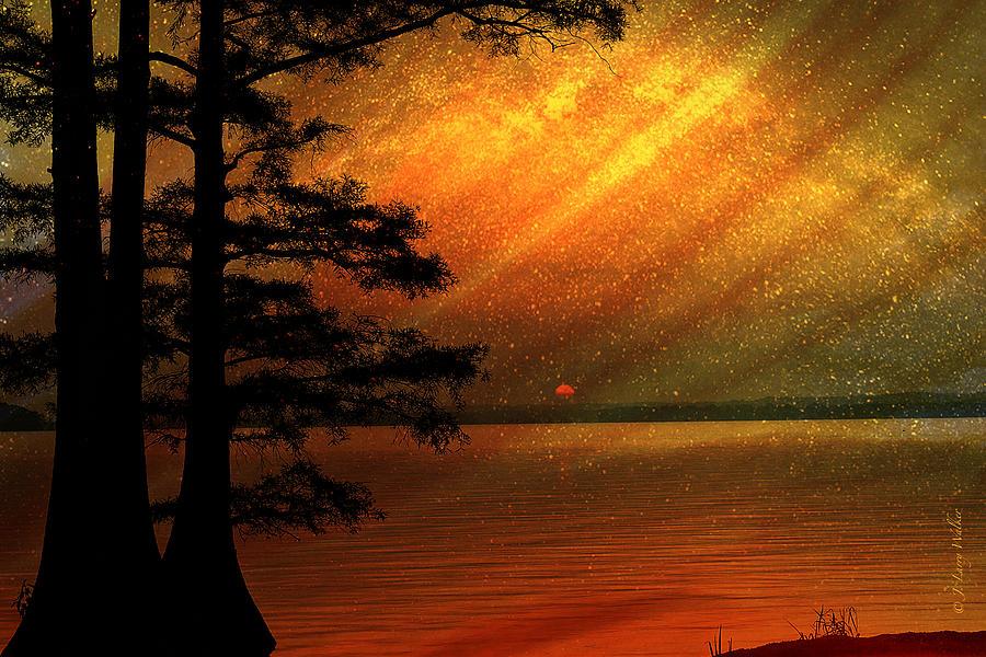 Sunrise At Reelfoot Lake by J Larry Walker