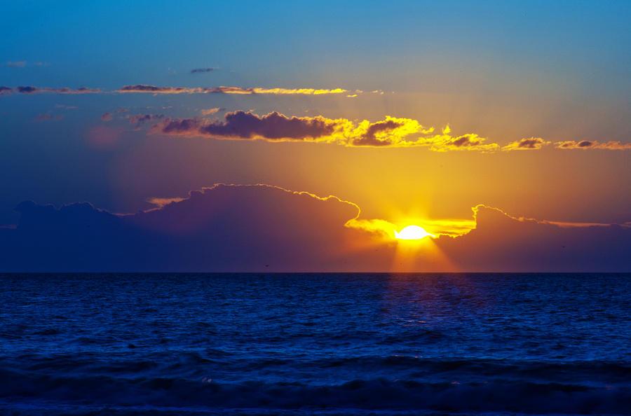 Sunrise Photograph - Sunrise At The Beach II by Gene Berkenbile