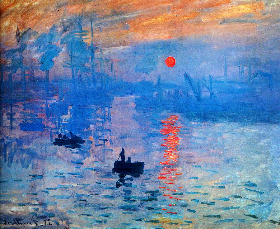 Impressionism Monet Sunrise Sunrise Paintin...