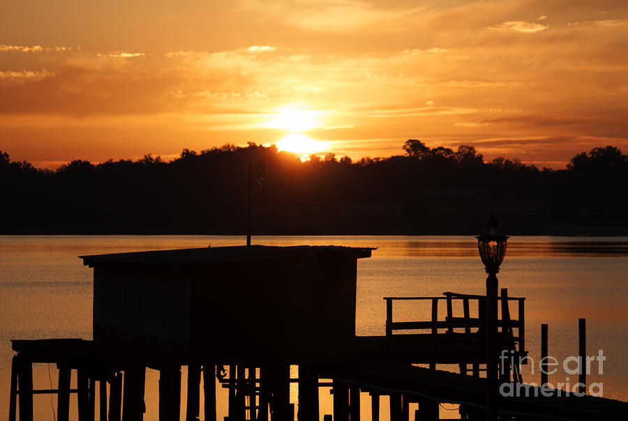 Sunrise on Lake Weir - 5 by Tom Doud