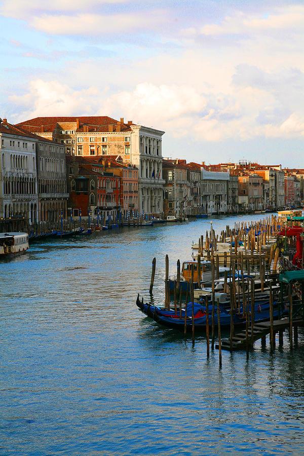 Venice Photograph - Sunrise on the Grand Canal by Ave Guevara