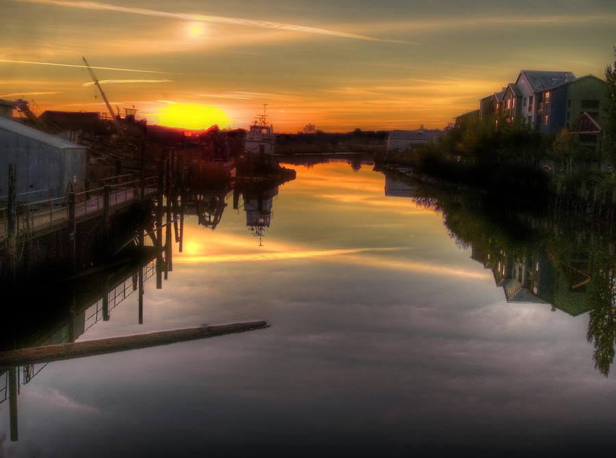 petaluma photograph sunrise on the petaluma river by bill gallagher