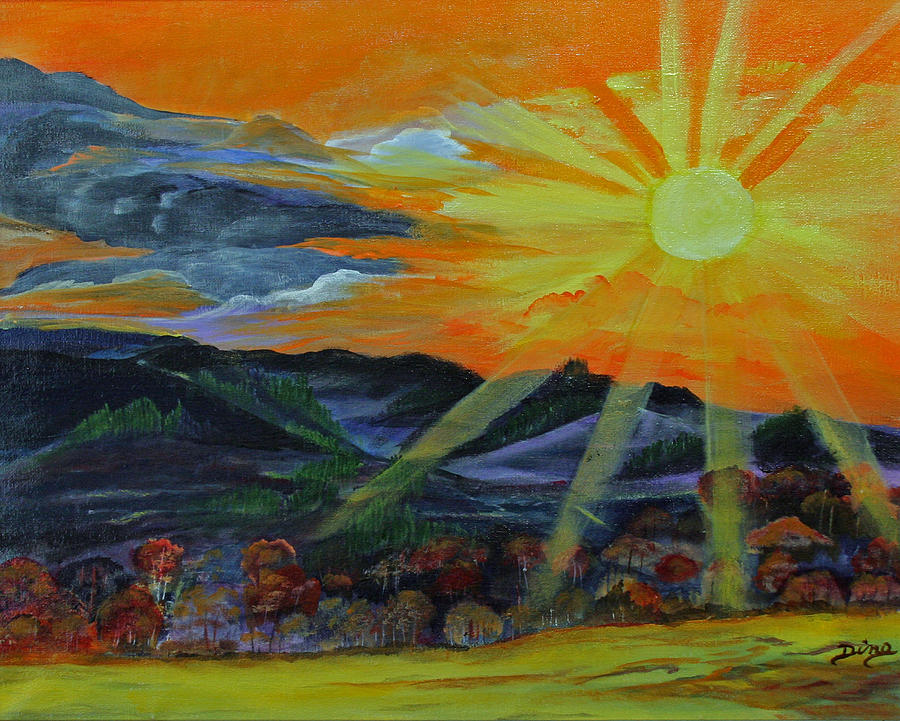 Painting Painting - Sunrise Over The Mountains by Dina Jacobs