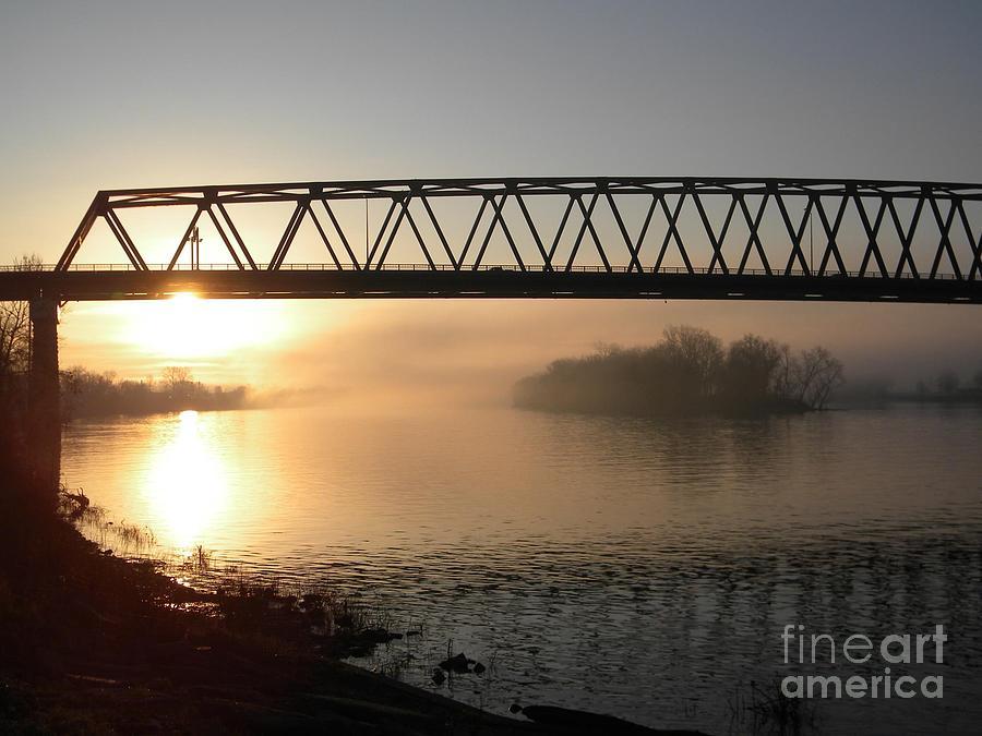 Clouds Digital Art - Sunrise Over The Ohio by Matthew Seufer