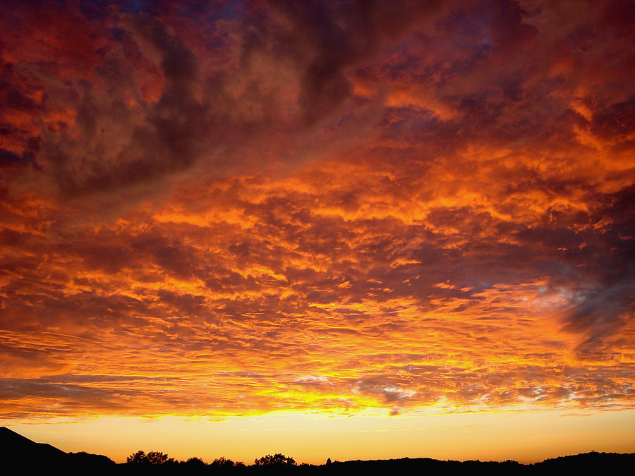 Sunset Photograph - Sunset Ablaze by James Hammen