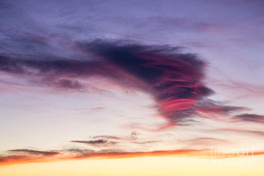 Sky Photograph - Sunset And Clouds Red Sensations. by Stefano Piccini