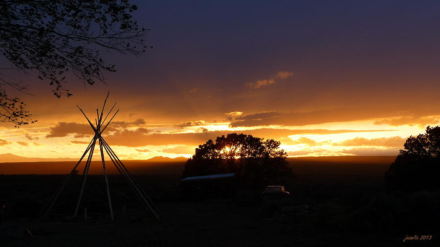 Sunset From Pilar Hill Photograph