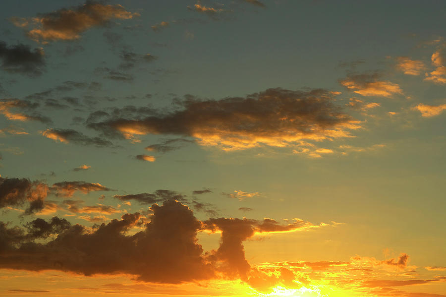 Sunset In The Indian Ocean Photograph by Owen Franken