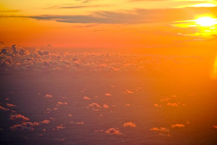 Sunrise Photograph - Sunset In The Sky by Raimond Klavins