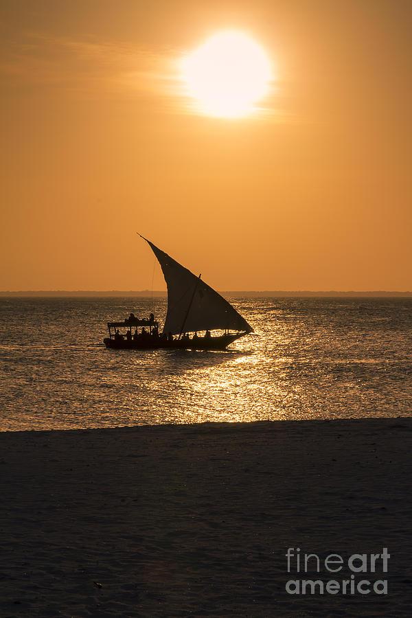 Africa Photograph - Sunset In Zanzibar by Pier Giorgio Mariani
