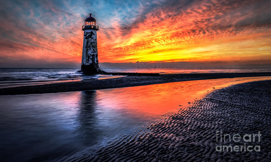Lighthouse Photograph - Sunset Lighthouse  by Adrian Evans