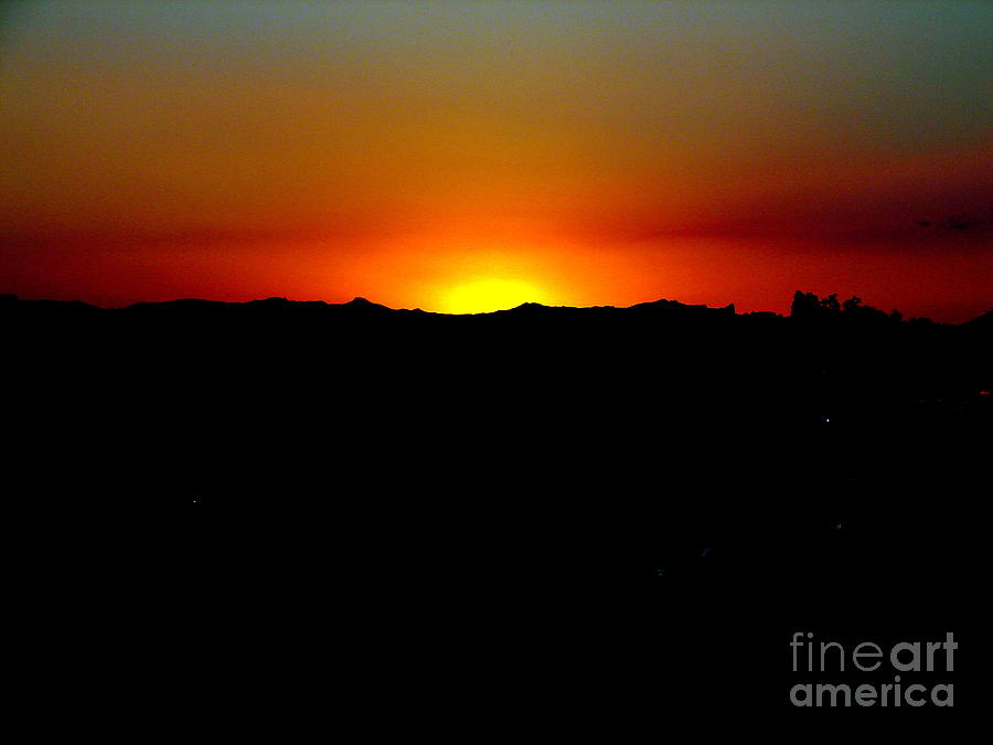 Sunset Photograph - Sunset Over Arizona by John Potts