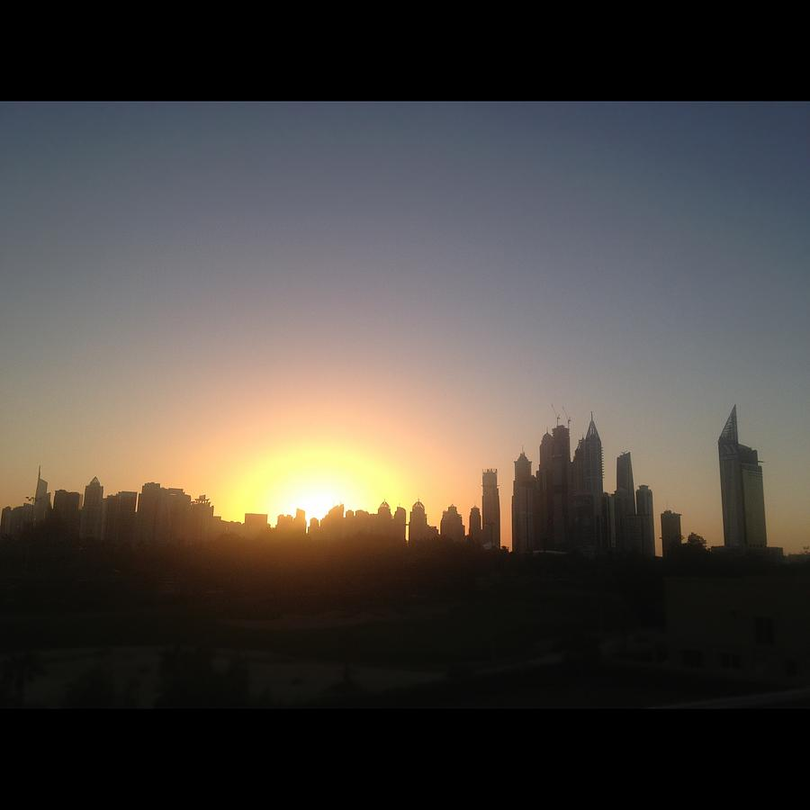 Sunset Over Dubai Feb 2013 Photograph by Maeve O Connell