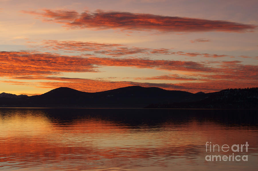 Sunset Photograph - Sunset Over Lake Tahoe by Benjamin Reed