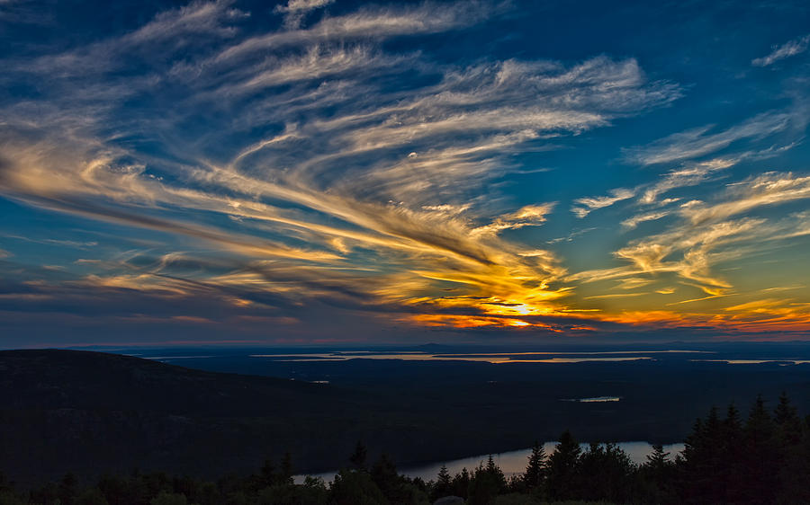 Sunset Over Maine by John M Bailey