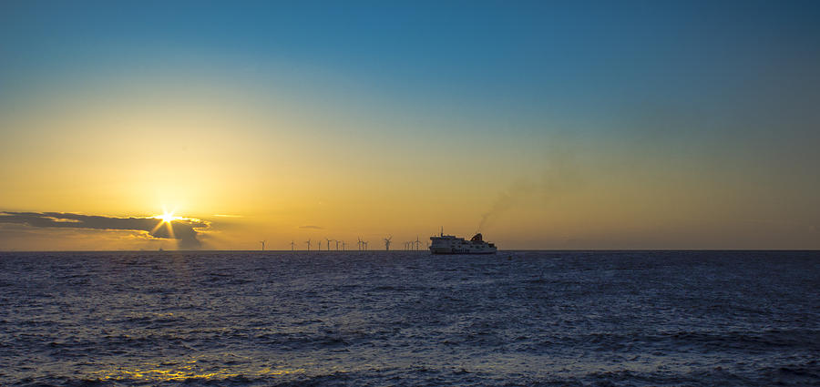 Sunset Photograph - Sunset Over The Irish Sea by Paul Madden