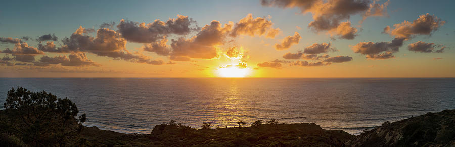 Horizontal Photograph - Sunset Over The Pacific Ocean, Torrey by Panoramic Images