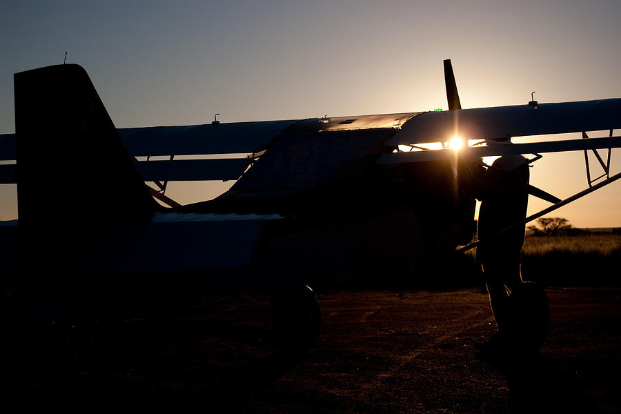 Aviation Photograph - Sunset Plane by Paul Job