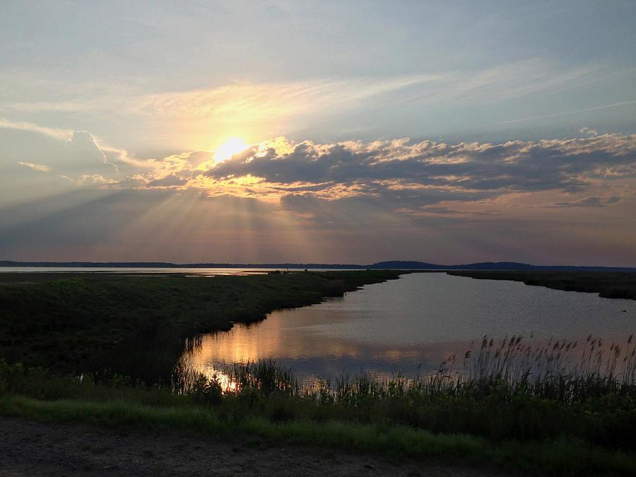 Sunset Photograph - Sunset Rays by Nancy Landry