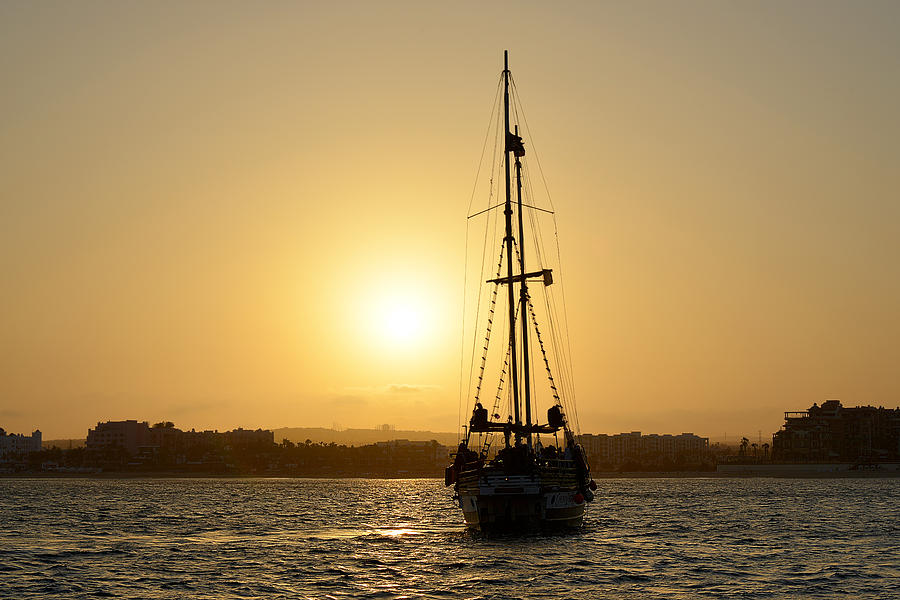 Sunset Sailing in Cabo by Christine Till