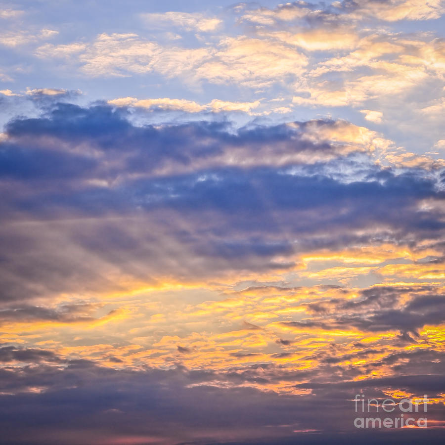 Sky Photograph - Sunset Sky by Elena Elisseeva