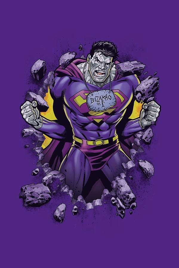 Superman Digital Art - Superman - Bizzaro Breakthrough by Brand A