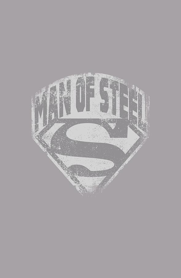 Superman Digital Art - Superman - Man Of Steel Shield by Brand A