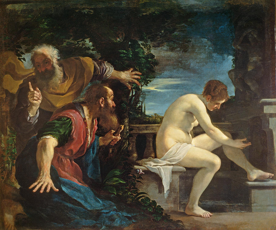 Lust Photograph - Susanna And The Elders by Guercino
