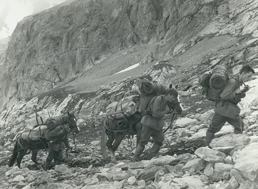 Retro Photograph - Swiss Radio On The Mountains by Retro Images Archive