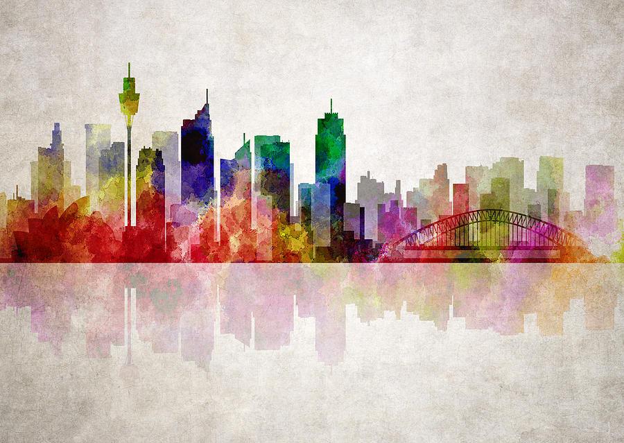 Sydney Digital Art - Sydney Australia Skyline by Daniel Hagerman
