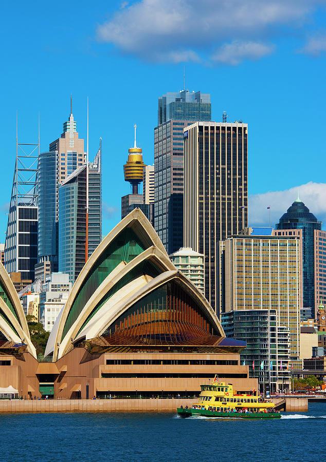Sydney Opera House And Sydney Skyline Photograph by Scott E Barbour