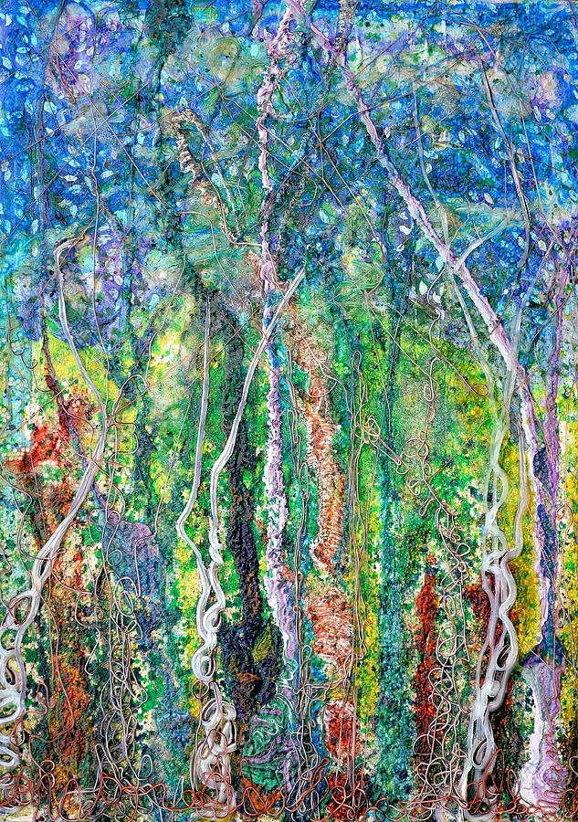 Forest Painting - Sylvan Fantasy by Regina Valluzzi