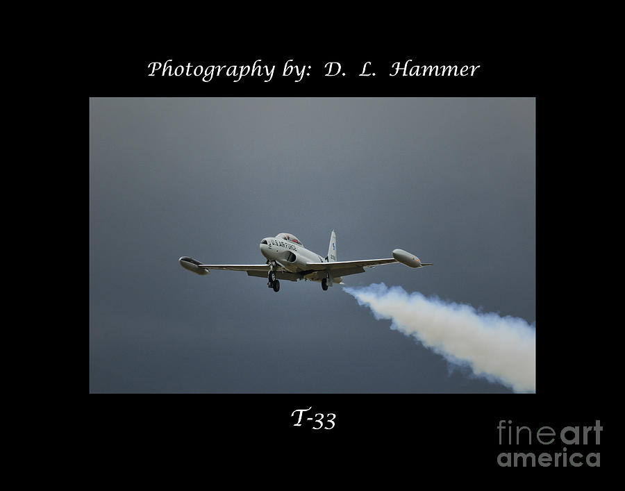 Vehicles Photograph - T-33 by Dennis Hammer