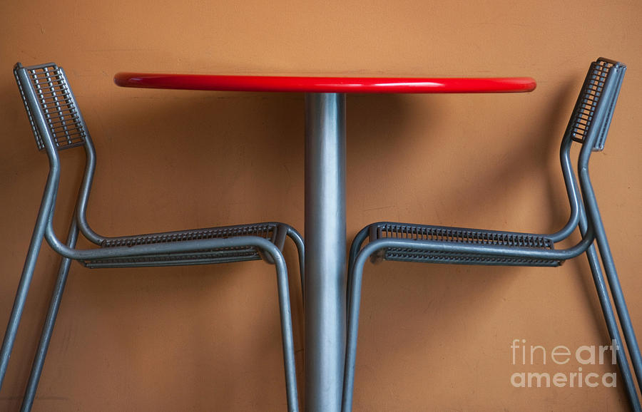 Table Photograph - Table And Chairs by Dan Holm