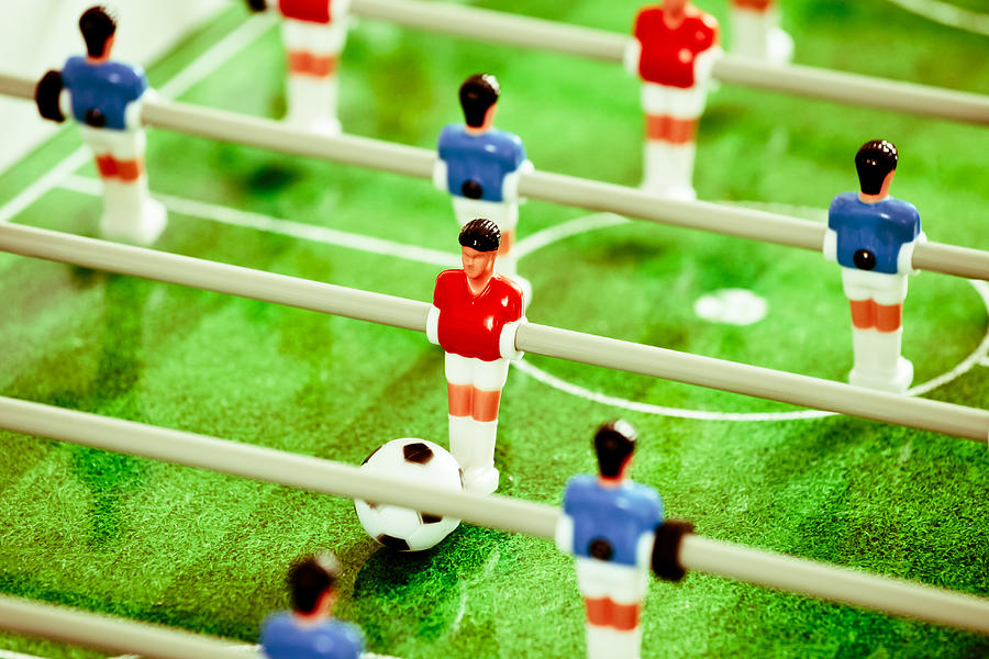 Action Photograph - Table Football by Tom Gowanlock