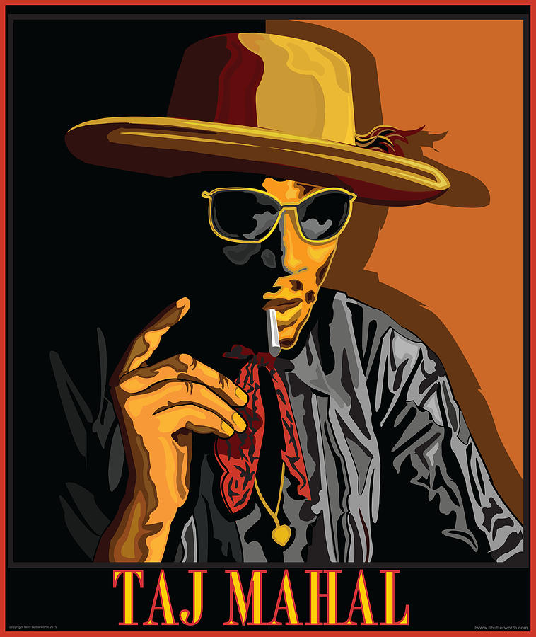 Music Digital Art - Taj Mahal by Larry Butterworth