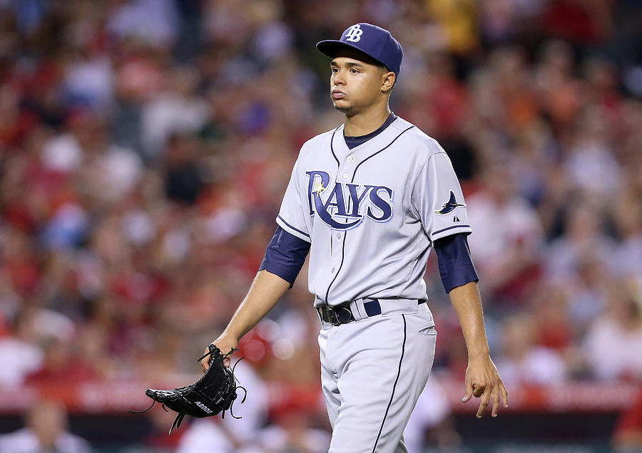 Tampa Bay Rays V Los Angeles Angels Of 1 Photograph by Stephen Dunn