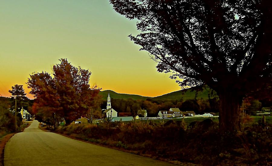 Sunset Photograph - Tamworth Village At Sunset 2 by Elizabeth Tillar