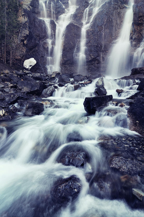 Tangle Falls Waterfall In Forest Photograph by Rezus