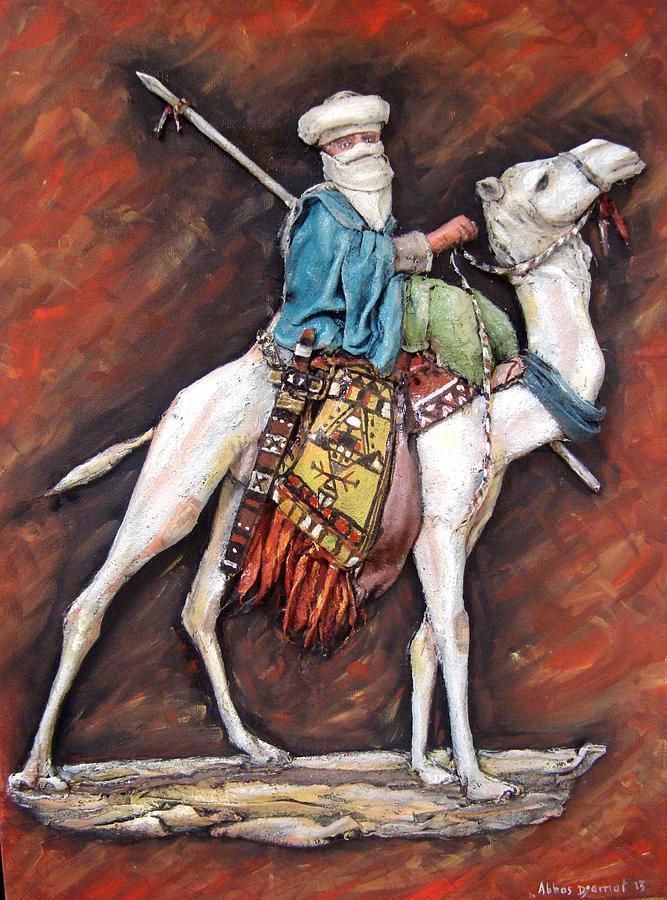 Targui  Painting - Targui With Camel by Abbas Djamat