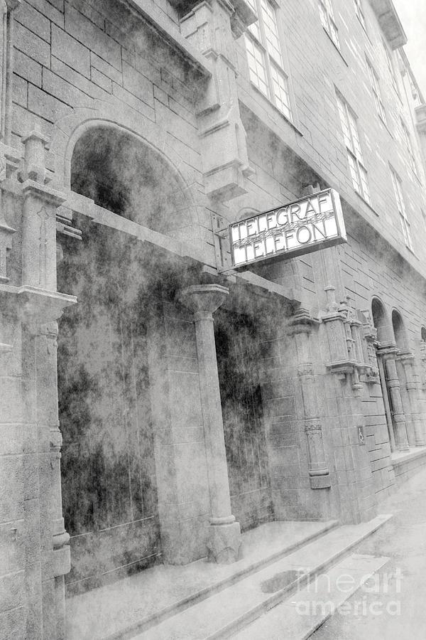Telegraf Photograph - Telegraf Building In Foggy Oslo by Sophie Vigneault