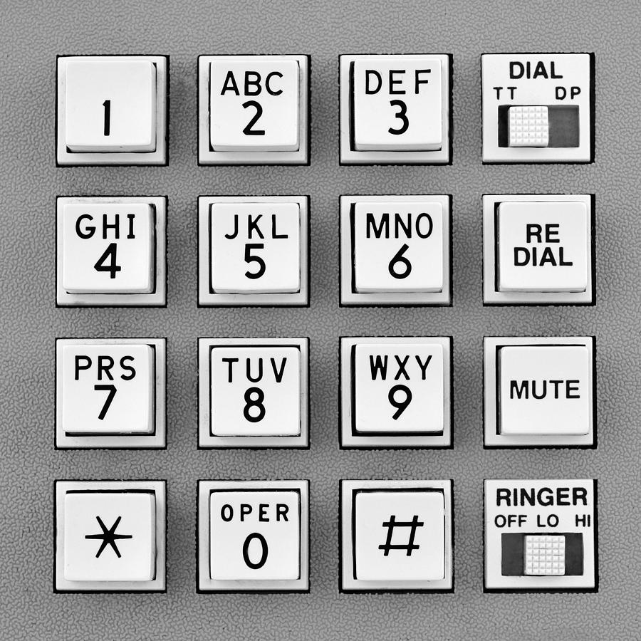 telephone touch tone keypad photograph by jim hughes. Black Bedroom Furniture Sets. Home Design Ideas