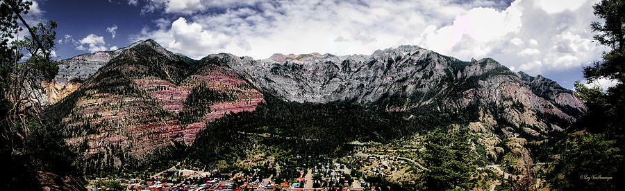 Landscape Photograph - Telluride From The Air by Lucy VanSwearingen
