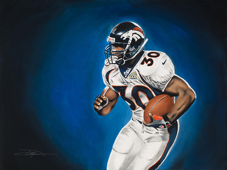 Terrell Davis Drawing - Terrell Davis  by Don Medina